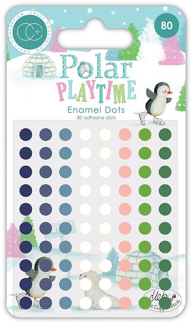 Polar Playtime - Adhesive Enamel Dots