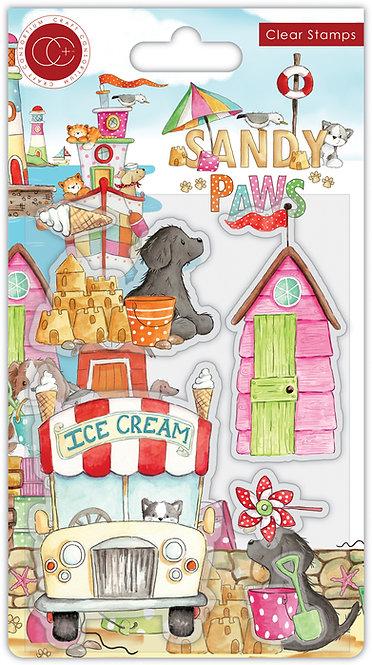 Sandy Paws - Ice Cream - Stamp Set