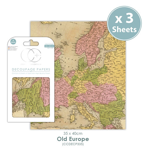 Old Europe - Decoupage Paper Set