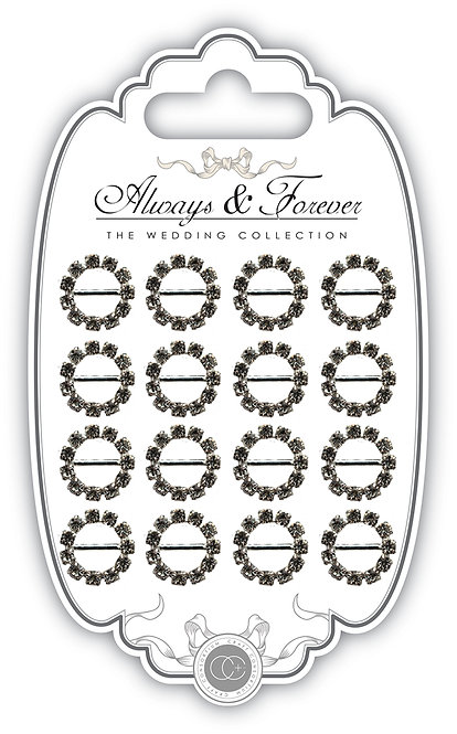 Always & Forever - Round Diamante Buckles