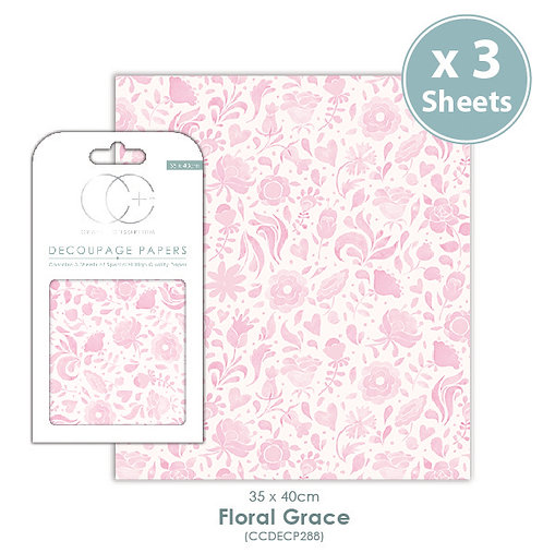Floral Grace - Decoupage Papers Set