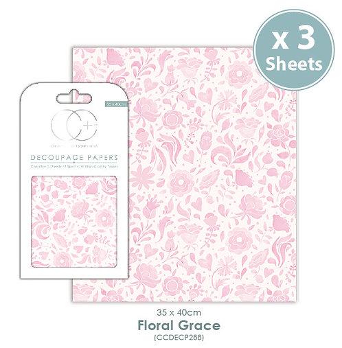 Floral Grace - Decoupage Papers Set