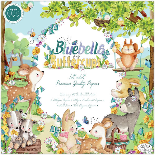 Bluebells and Buttercups - Premium Paper Pad
