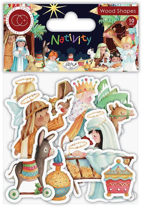 Nativity - Printed Wooden Ephemera