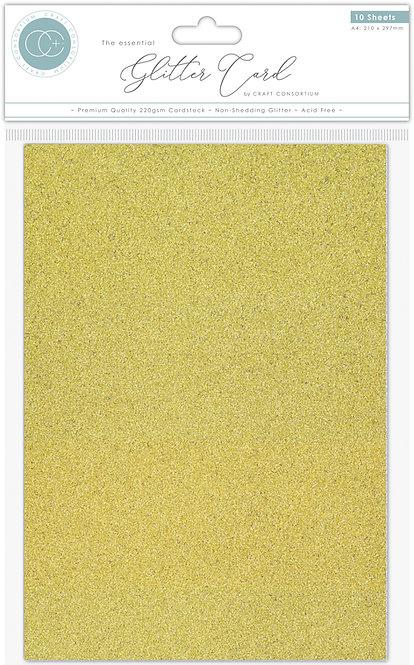 The Essential Glitter Card - Non Shedding A4 Glitter Card - Gold
