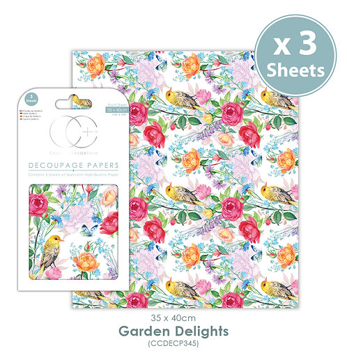 Garden Delights - Decoupage Paper Set