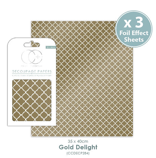 Gold Delight - Metallic Decoupage Papers Set