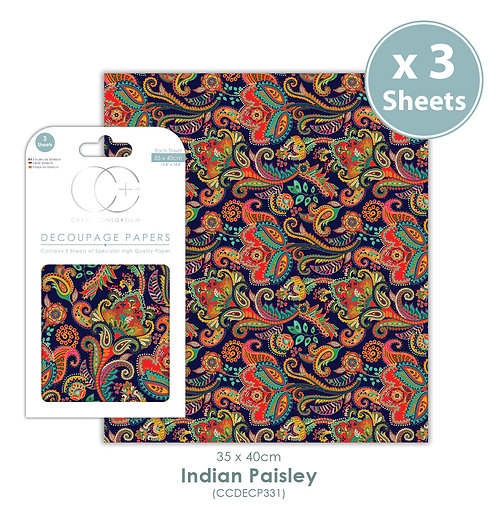 Indian Paisley - Decoupage Paper Set