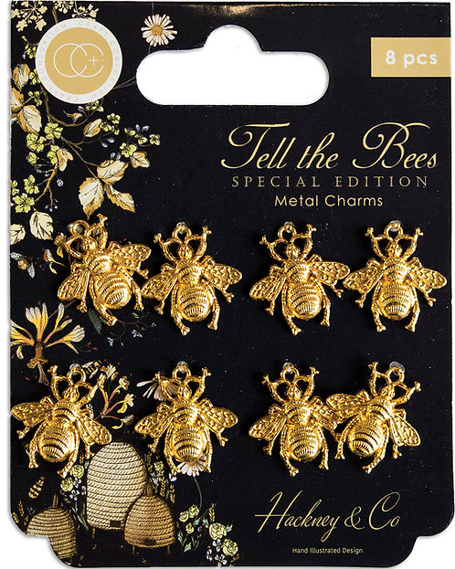 Tell the Bees - Special Edition - Gold Bee Metal Charms