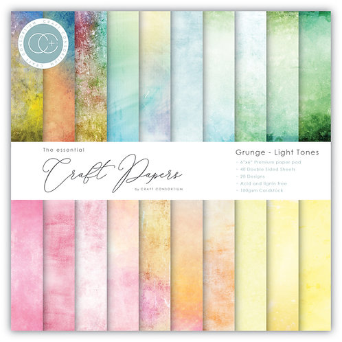 The Essential Craft Papers - 6x6 Grunge - Light Tones