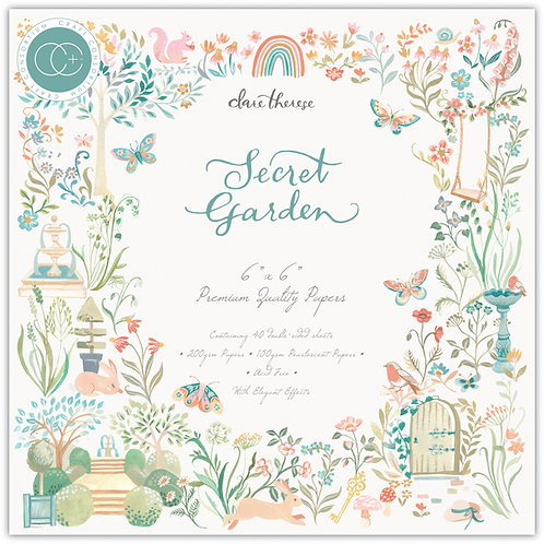 """Secret Garden - 6""""x6"""" Premium Paper Pad"""