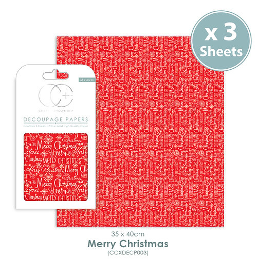Merry Christmas - Decoupage Papers Set