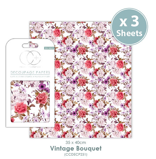 Vintage Bouquet - Decoupage Papers Set