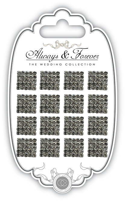 Always & Forever - Square Diamante Cluster Charms