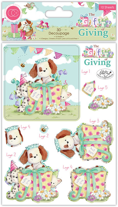 The Gift of Giving - 3D Decoupage Set