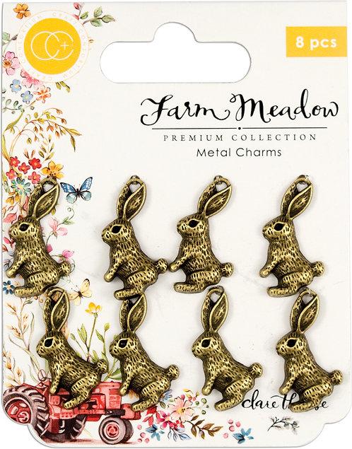 Farm Meadow - Metal Charms - Rabbits