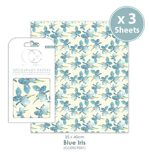 Blue Iris - Decoupage Papers Set