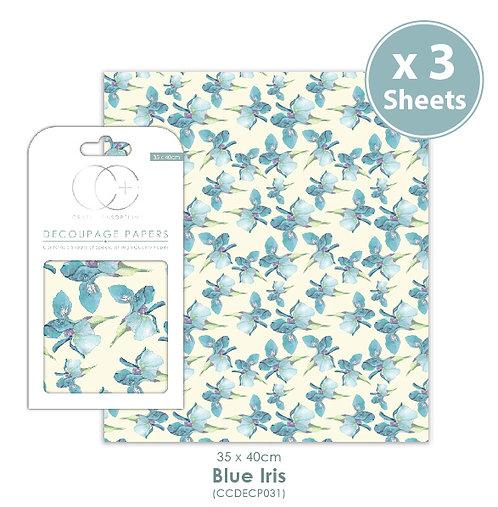 Blue Iris - Decoupage Papers Set