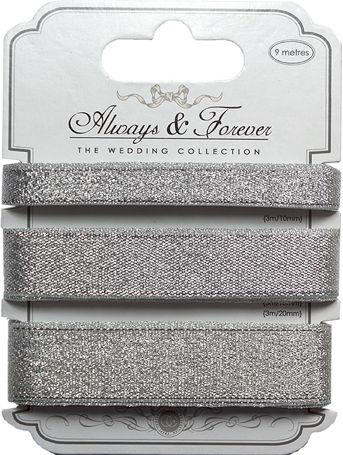 Always & Forever - Metallic Ribbons - Silver