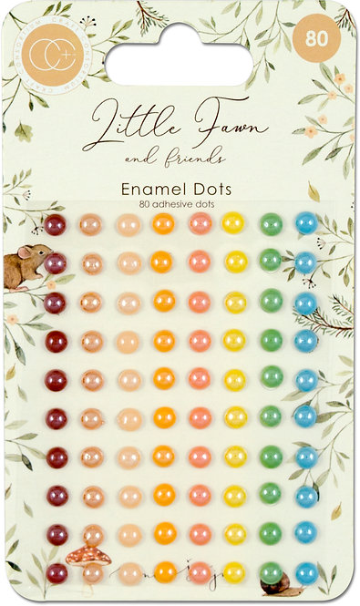 Little Fawn & Friends - Adhesive Enamel Dots