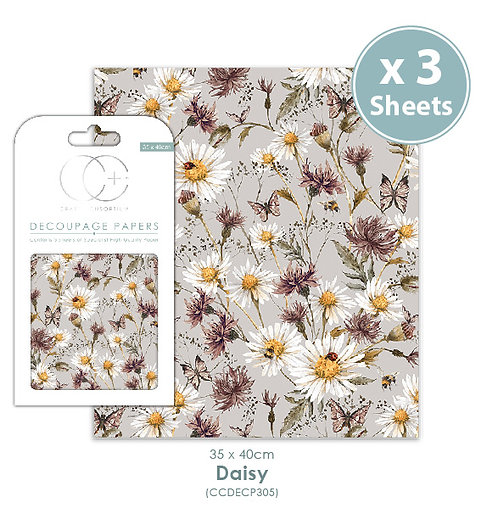 Daisy - Decoupage Papers Set