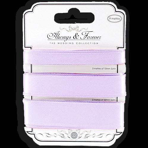 Always & Forever - Elegant Satin Ribbons - Lilac