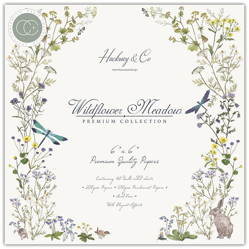 "Wildflower Meadow 6""x6"" Premium Paper Pad"