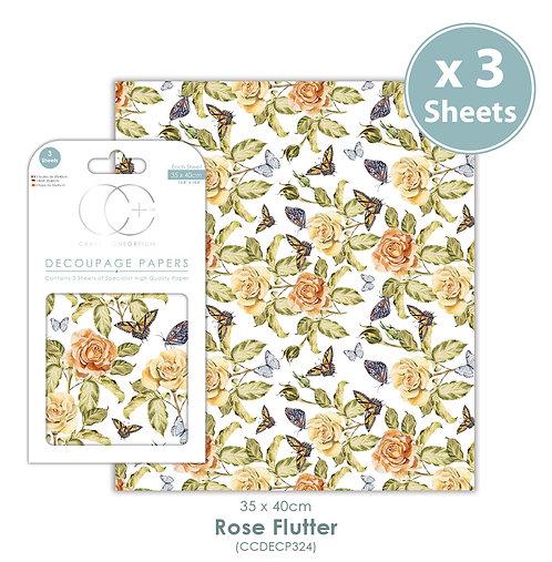 Rose Flutter - Decoupage Paper Set