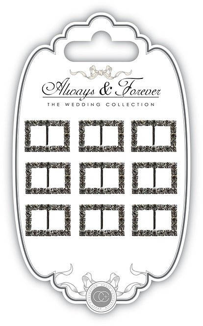Always & Forever - Diamante Rectangle Buckles