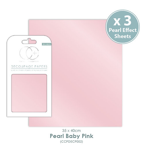 Pearl Baby Pink - Pearlescent Decoupage Papers Set