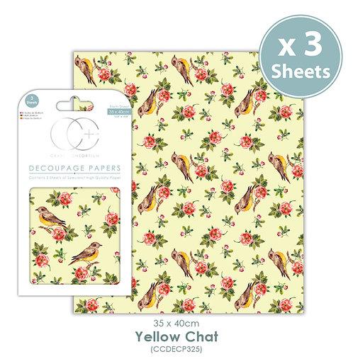Yellow Chat - Decoupage Paper Set
