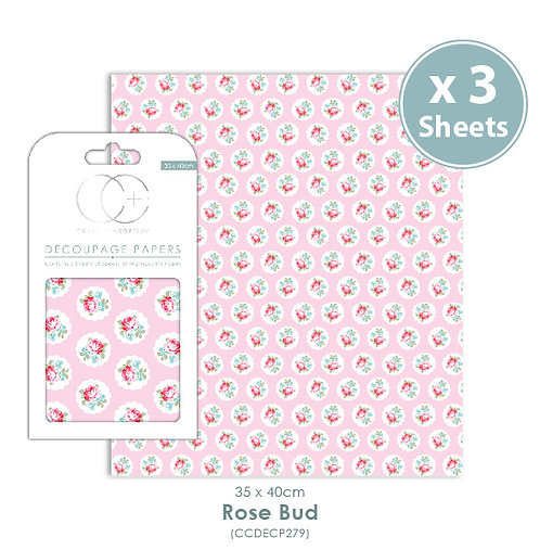 Rose Bud - Decoupage Papers Set