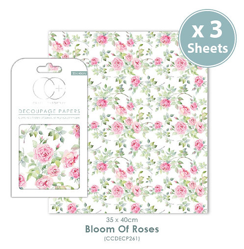 Bloom of Roses - Decoupage Papers Set