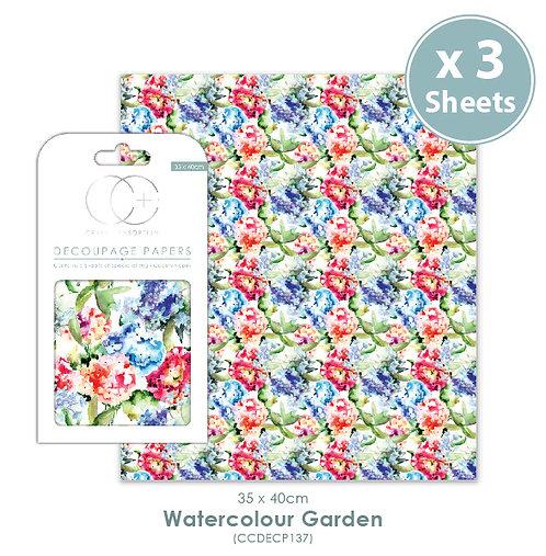 Watercolour Garden - Decoupage Papers Set