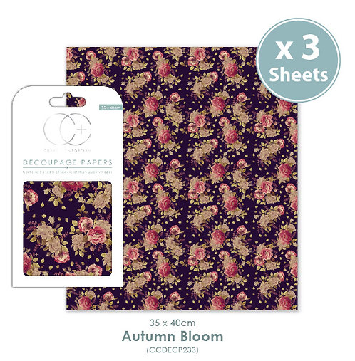 Autumn Bloom - Decoupage Papers Set