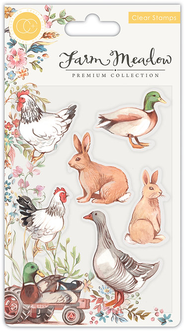 Farm Meadow - Stamp Set - Animals