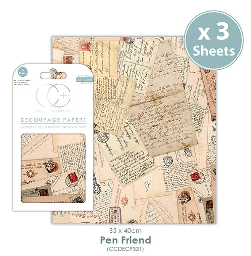Pen Friend - Decoupage Paper Set