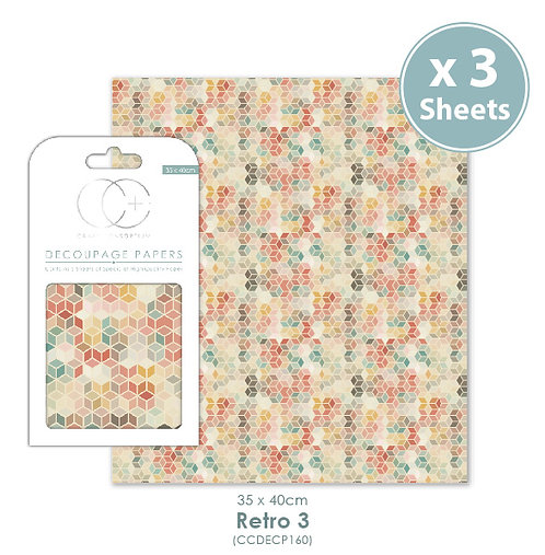 Retro 3 - Decoupage Papers Set