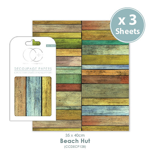 Beach Hut - Decoupage Papers Set