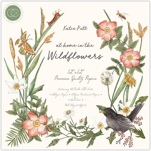 At home in the wildflowers - Premium Paper Pad