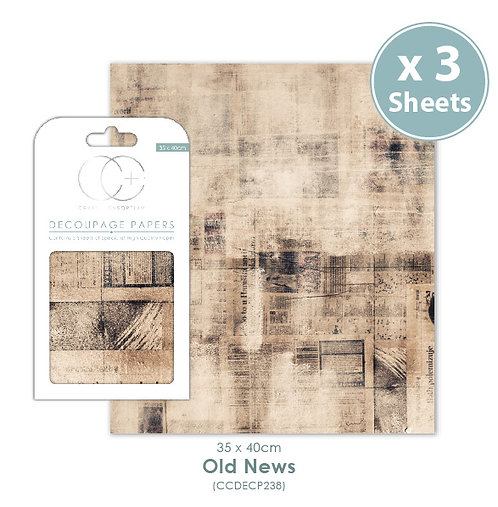 Old News - Decoupage Papers Set