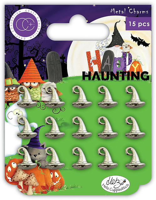 Happy Haunting - Witches Hat - Metal Charms