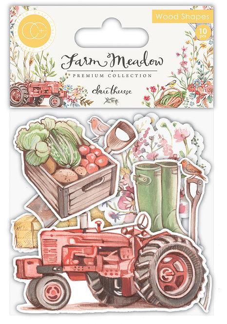 Farm Meadow - Wood Shapes - Farm