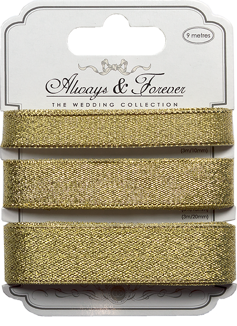 Always & Forever - Metallic Ribbons - Gold