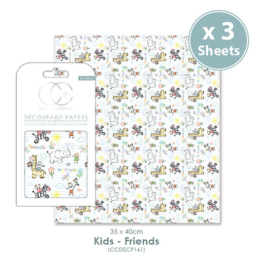 Kids - Friends - Decoupage Papers Set
