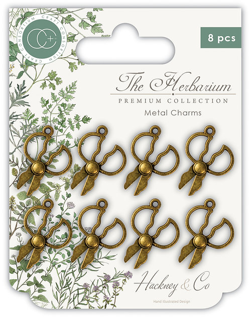 The Herbarium - Herb Scissor Metal Charms