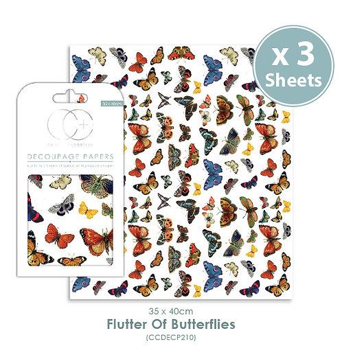Flutter of Butterflies - Decoupage Papers Set