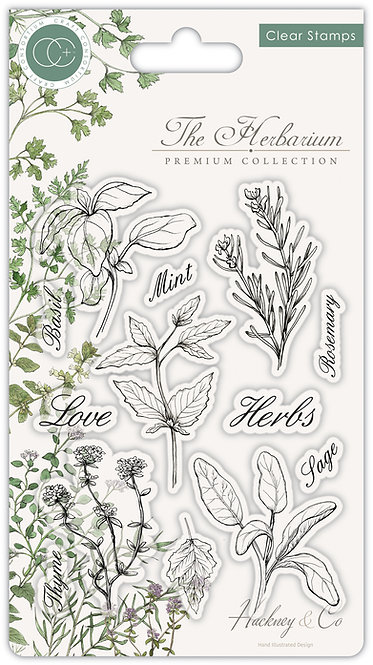 The Herbarium - Clear Stamp Set - Herbs