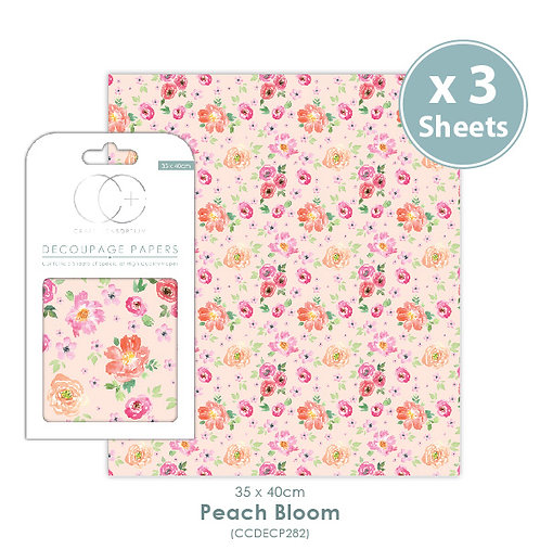 Peach Bloom - Decoupage Papers Set