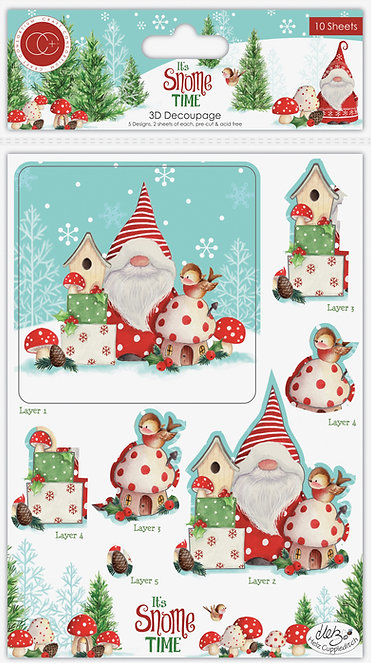 It's Snome Time - 3D Decoupage & Topper Set